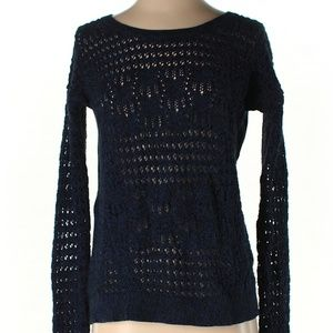 [a33-14] DKNY marled blue pullover knit sweater